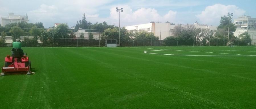 Πραγματικό στολίδι το Δημοτικό γήπεδο της Καλαμαριάς! Εικόνες από το νέο αγωνιστικό χώρο (photos)!